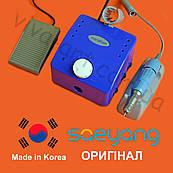 Фрезер К-35 Cube для маникюра, синий, с педалью, (КОМПЛЕКТАЦИЯ НА ВИБОР) ОРИГИНАЛ