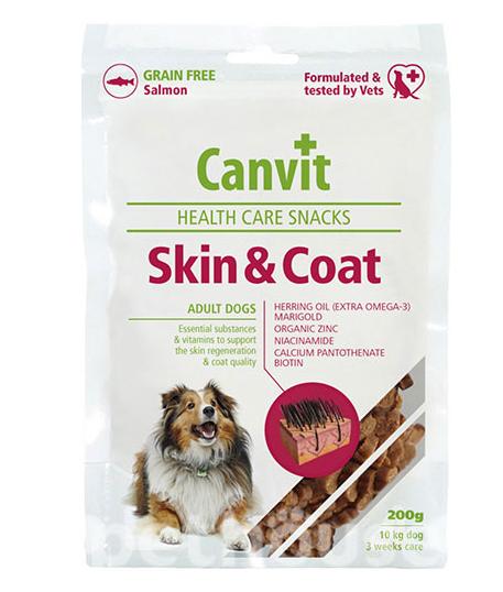 КАНВІТ СКИН КОАТ Canvit Skin and Coat функціональні ласощі для покращення вовни та шкіри  собак, 200 г