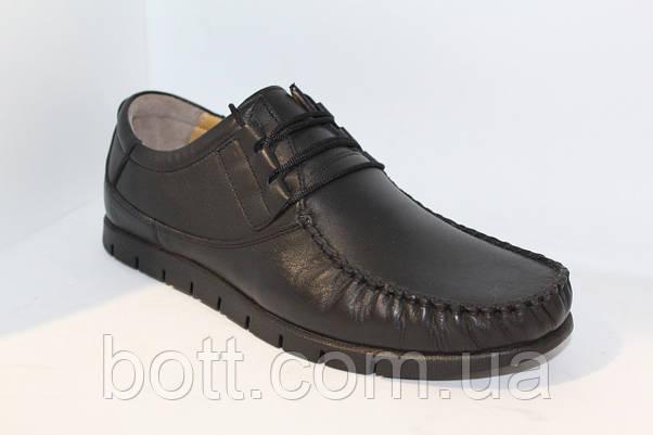 Мокасин кожаные черные, фото 2