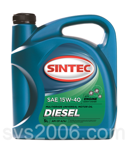 Масло моторное 15W-40 SINTEC Diesel CF-4/CF/SJ, 5л, мин
