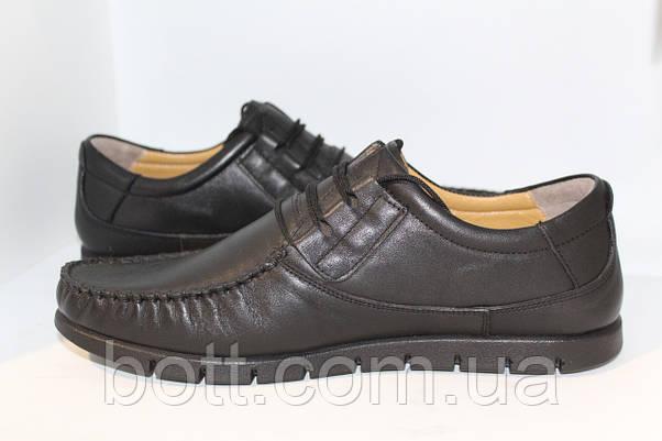 Мокасин кожаные черные, фото 3
