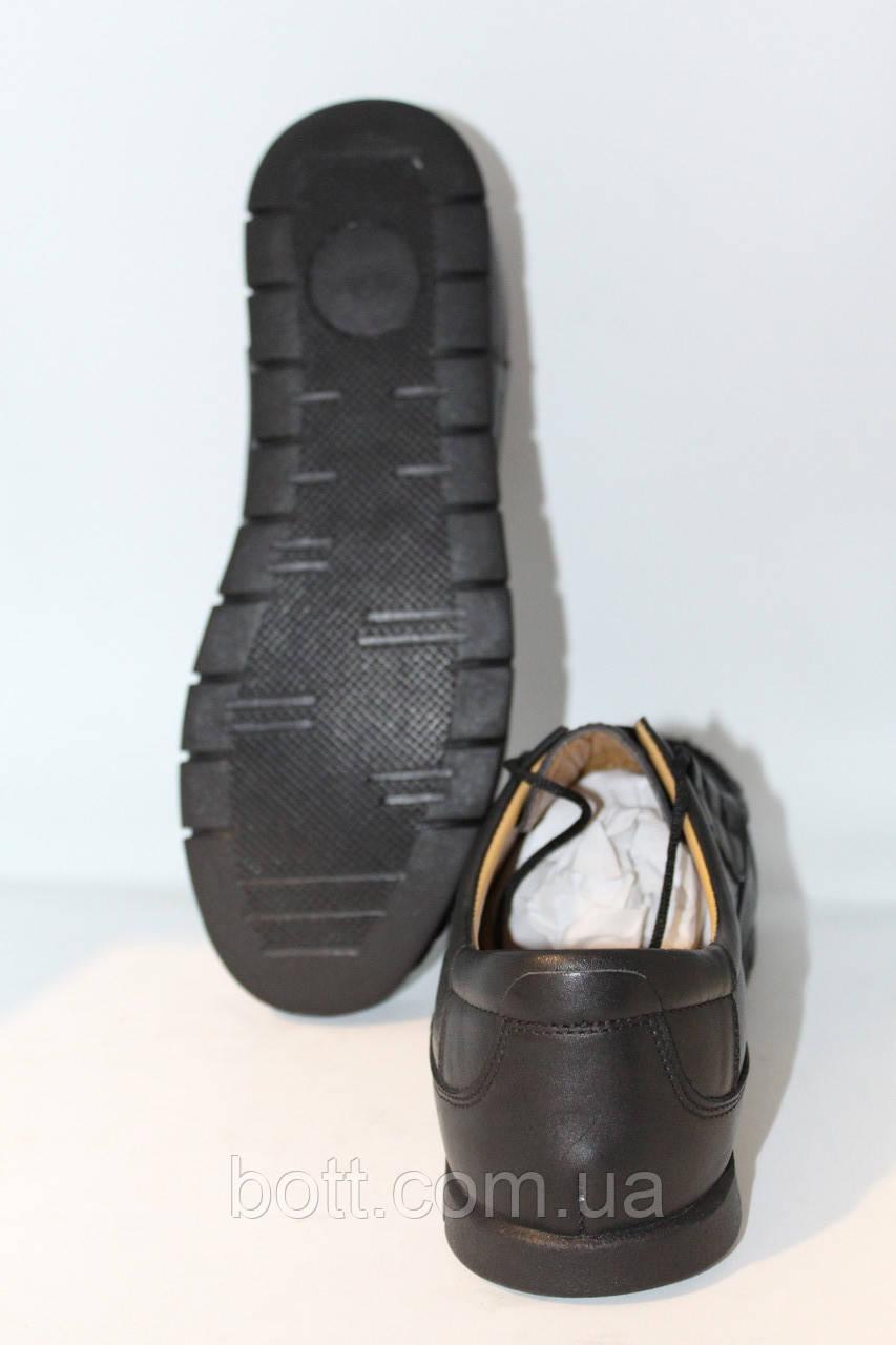 Мокасин кожаные черные