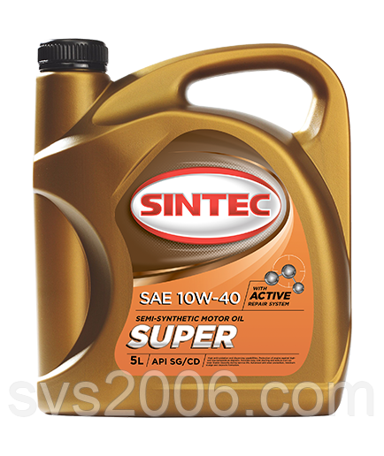 Масло моторне 10W-40 SINTEC Супер SG/CD, 5л, п/синтетика