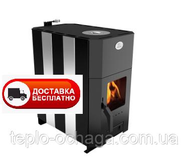Печь с варочной поверхностью Огнев ПОВ-100 со стеклом и конфоркой