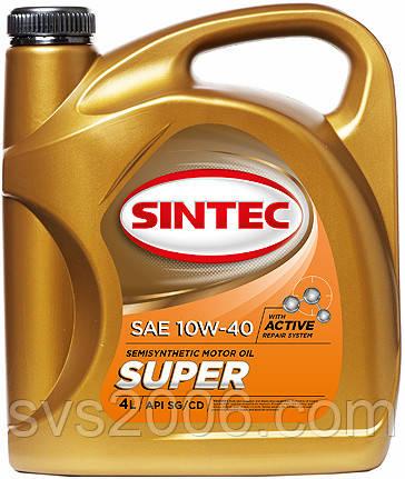Масло моторное 10W-40 SINTEC Супер SG/CD, 4л, п/синтетика
