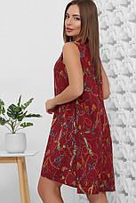 Платье летнее среднее миди бордовое, супер Софт с поясом в комплекте. Размеры 42, 44, 46, 48, 50, фото 2