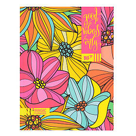 Блокнот А5/64 ЛИН. интег. неон+софт-тач лак. Floral vibes YES код:151363