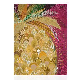 Блокнот А5/64 КЛ. с твердой обложкой фольга золото+глиттер золото Opium. Pineapple YES код:151377