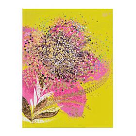 Блокнот А5/64 КЛ. интег. фольга золото+глиттер золото Opium. Flower YES код:151385