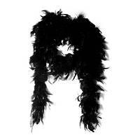 Чёрное боа из перьев карнавальное 2 м