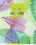 Блокнот 140*185/96 КЛ. с твердой обложкой Leaves YES код:151489, фото 5