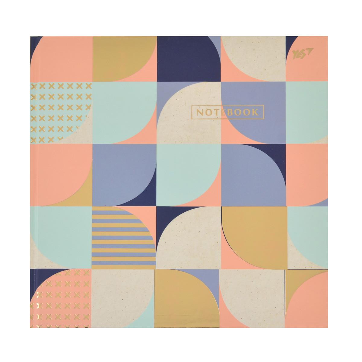 Блокнот 200*200/96 КЛ. с твердой обложкой Abstract YES код:151505