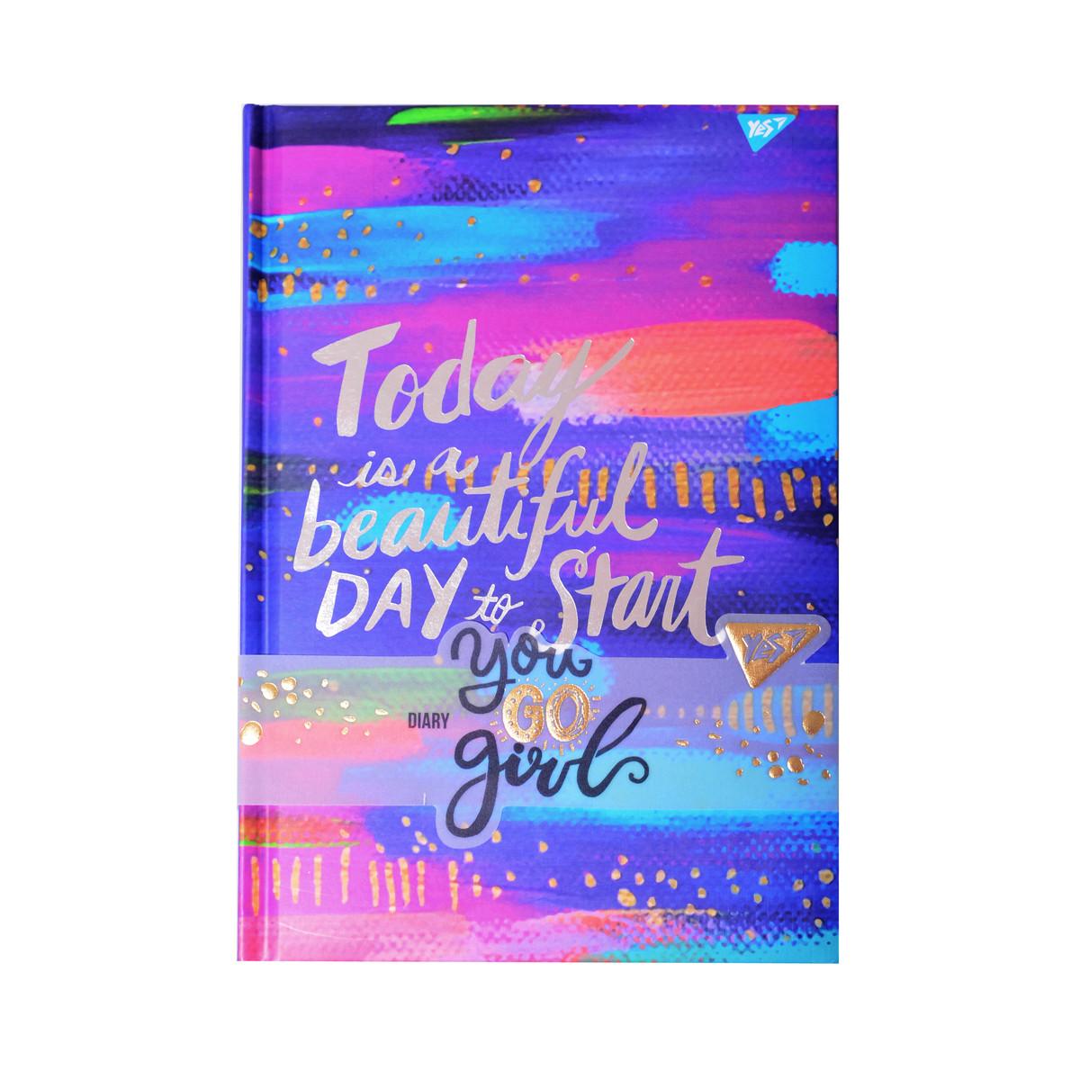 Блокнот-мотиватор для девочки YES Today серии You GO girl 140 х 210 мм 152 л. код:151576