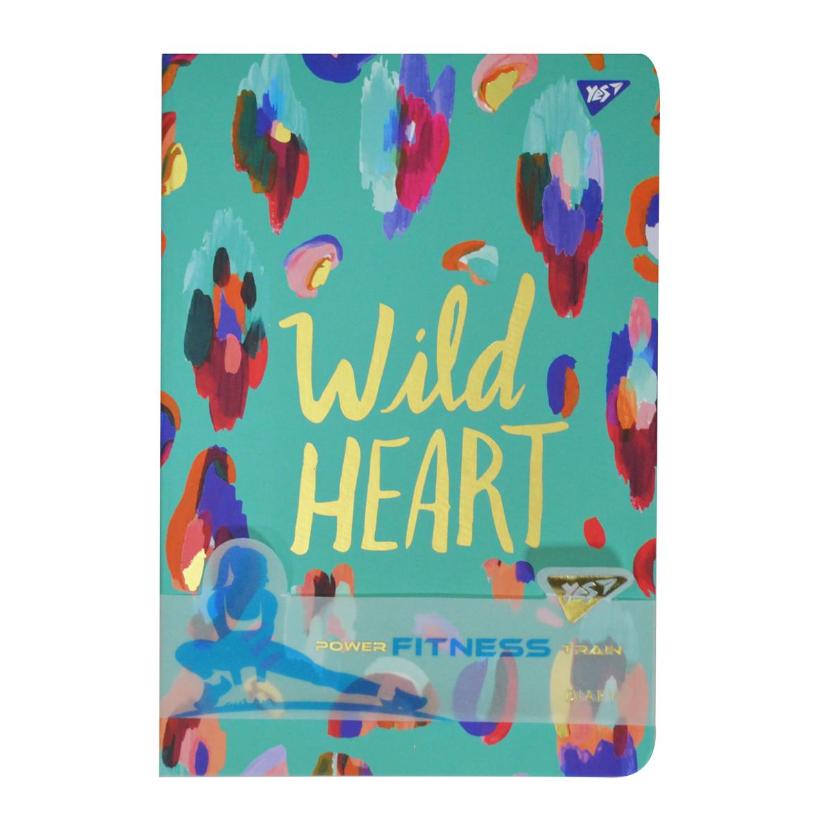 Блокнот-мотиватор для девочки YES Wild Heart серии Fitness 140 х 210мм 96л. код:151581