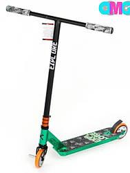 Трюкової самокат EXPLORE PESCARA HD New HIC зелений + пега ( колеса дюраль 110мм )