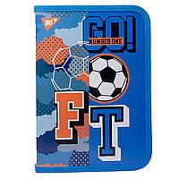 "Папка для тетрадей YES пласт. на молнии В5 ""Football"" код:491796"