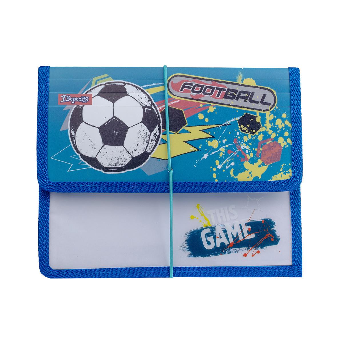 Папка для тетрадей 1 Вересня пласт. на резинке В5 Team football код:491850