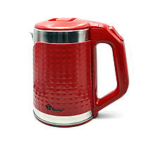 Электрочайник DOMOTEC MS-5027 (2000Вт, 2,20л) красный, белый, черный