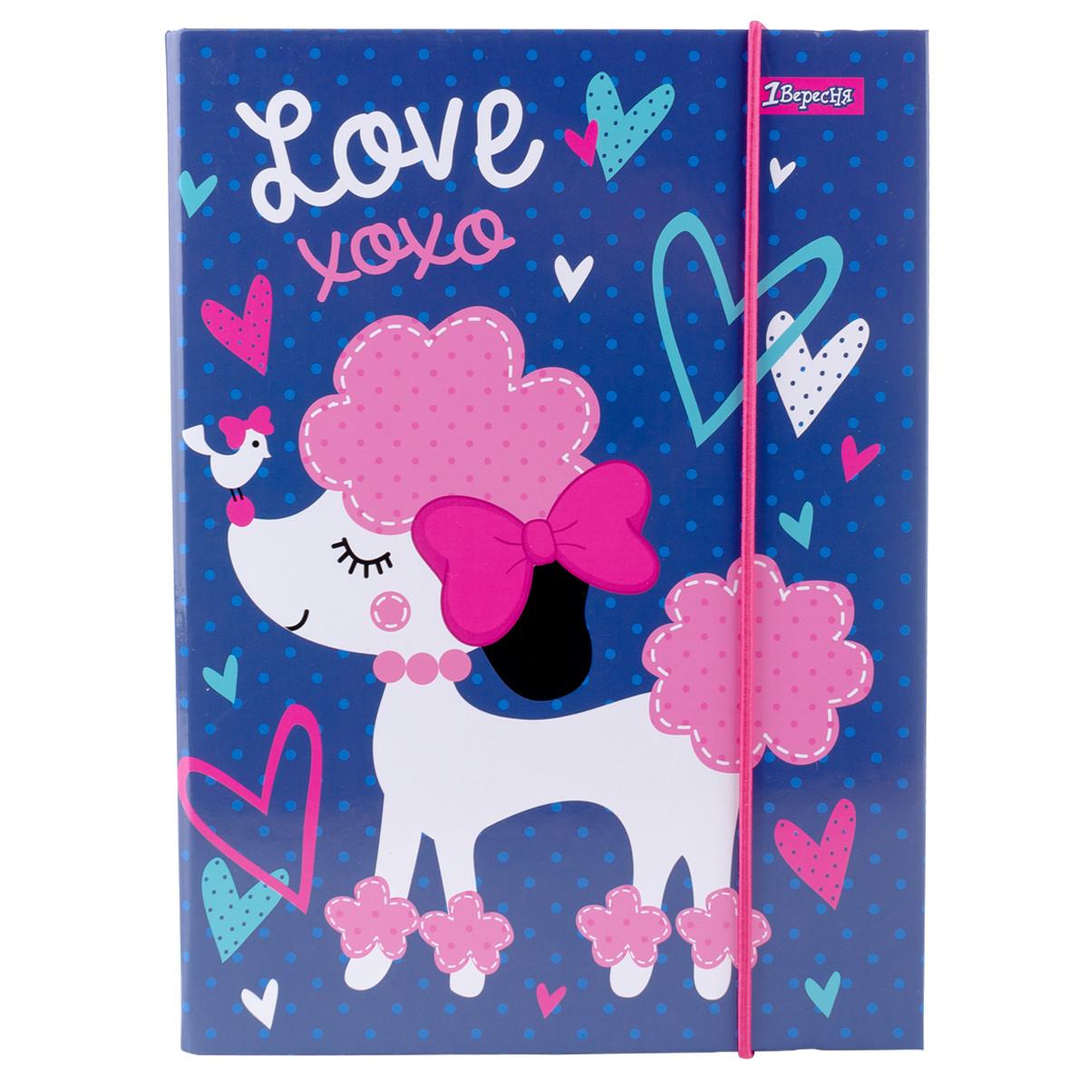 Папка для тетрадей 1 Вересня картонная В5 Love XOXO код:491887