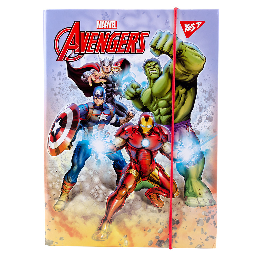 Папка для тетрадей YES картонная В5 Marvel код:491897