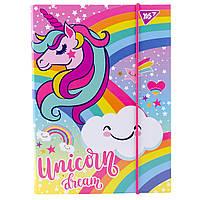 """Папка для тетрадей YES картонная В5 """"Unicorn"""" код:491903"""