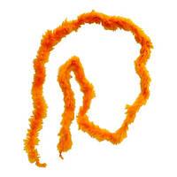 Боа тонкое оранжевое пуховое