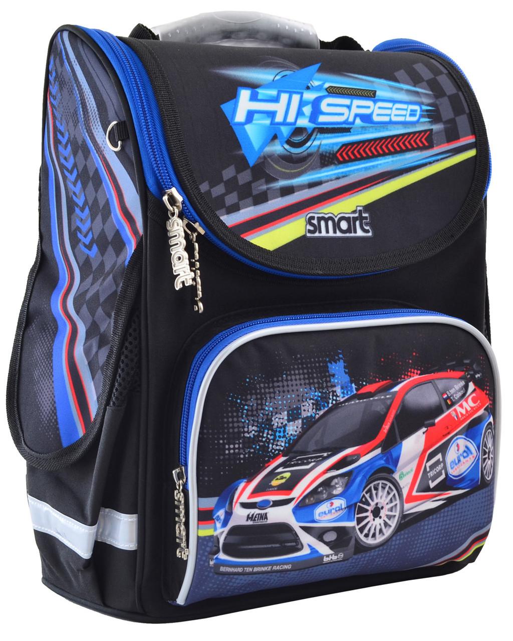 """Рюкзак школьный каркасный ортопедический Smart PG-11 """"Hi Speed"""" код:555979"""