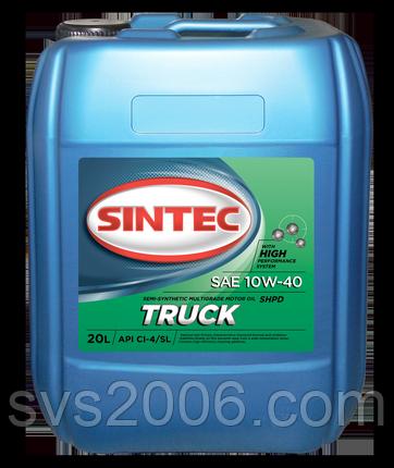 Масло моторное 10W-40 SINTEC TRUCK CI-4/SL, 20л, п/синтетика