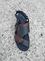 Чоловічі шкіряні сандалі великі розміри 46-49 р-р, фото 1