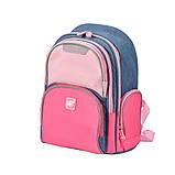 Рюкзак школьный Yes S-30 Juno Girls style розовый/голубой код:558444, фото 2