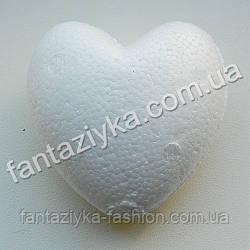 Пенопластовое сердце 6см, заготовка