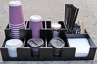 Органайзер барный, ГОРИЗОНТАЛЬ 3+3, (для стаканов и крышек)   Era Creative Wood