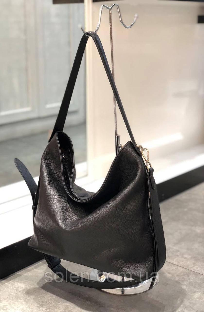 Стильная кожаная сумка . Женская сумка из натуральной кожи. Сумка мешок. Большая сумка. Кожаная сумка.