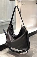 Стильная кожаная сумка . Женская сумка из натуральной кожи. Сумка мешок. Большая сумка. Кожаная сумка., фото 1