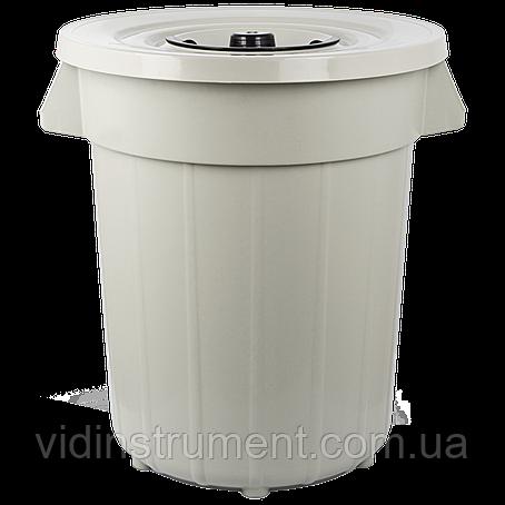 Бак для мусора Planet №6 120 л серый, фото 2