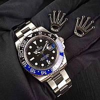 Rolex GMT Master II Silver-Black-Blue, фото 1