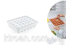 Пластиковый контейнер для хранения яиц на 30 шт Турция (28 х 34 х 7 см)