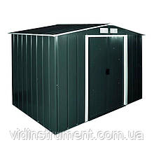 Сарай металлический ECO 320x302x196 см зеленый с белым