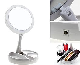 Зеркало с led подсветкой My Foldaway Mirror для макияжа белое, фото 2