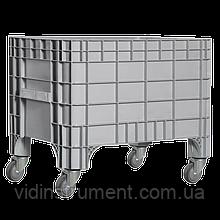 Пластиковый контейнер 930 х 590 х 515 пищевой 270 л с колесами серый Kayalarplastik