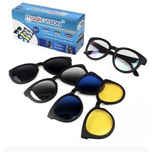 Окуляри сонцезахисні антиблікові Magic Vision Original 5 в 1, фото 2