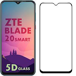 5D стекло ZTE Blade 20 Smart (Защитное Full Glue) Черное
