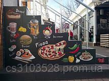 Роспись ступенек для пицерии
