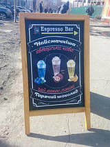 Роспись штендера для кофейни