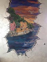 """Курорт """"Портофино"""" на закате через разлом в стене. 2018г"""