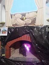 Декорация камина лепным рельефом (в процессе)