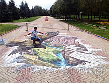 Орёл над каньоном президентском парке. г.Алматы
