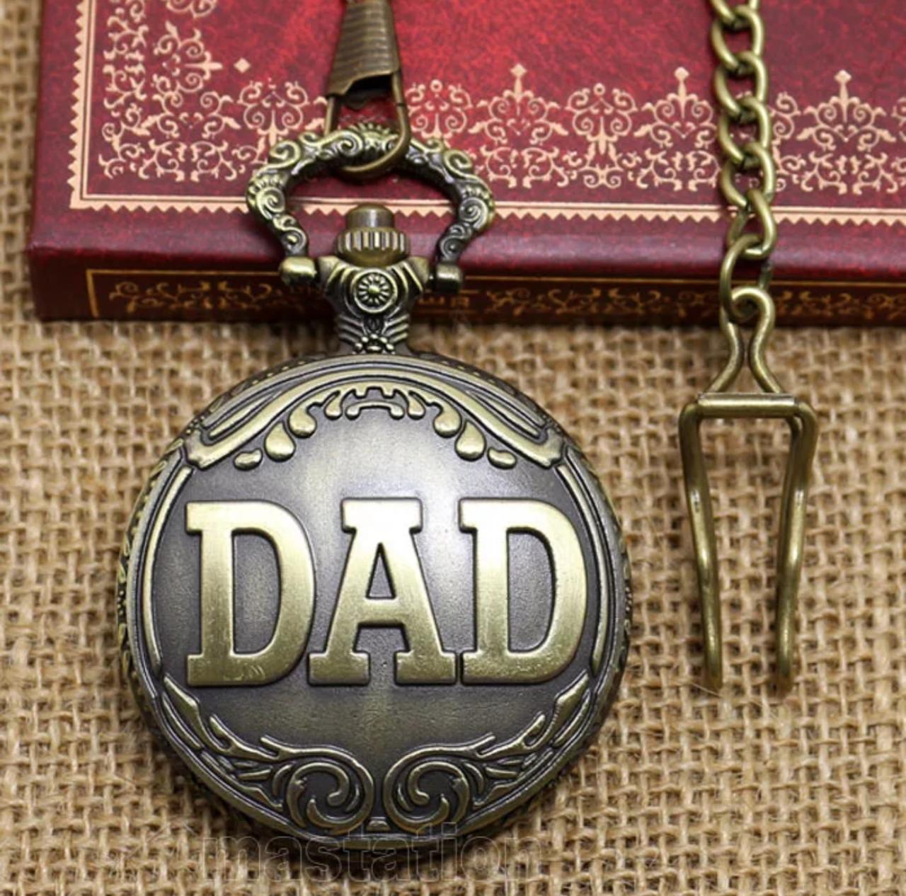 Мужские часы карманные на цепочке Папа