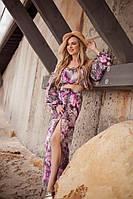 Костюм женский пляжный в расцветках (Норма)