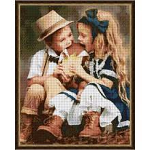 Вышивка бисером, Канва Дети  Шоколадная любовь